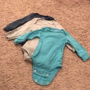 Carters 3 month long sleeve onesies